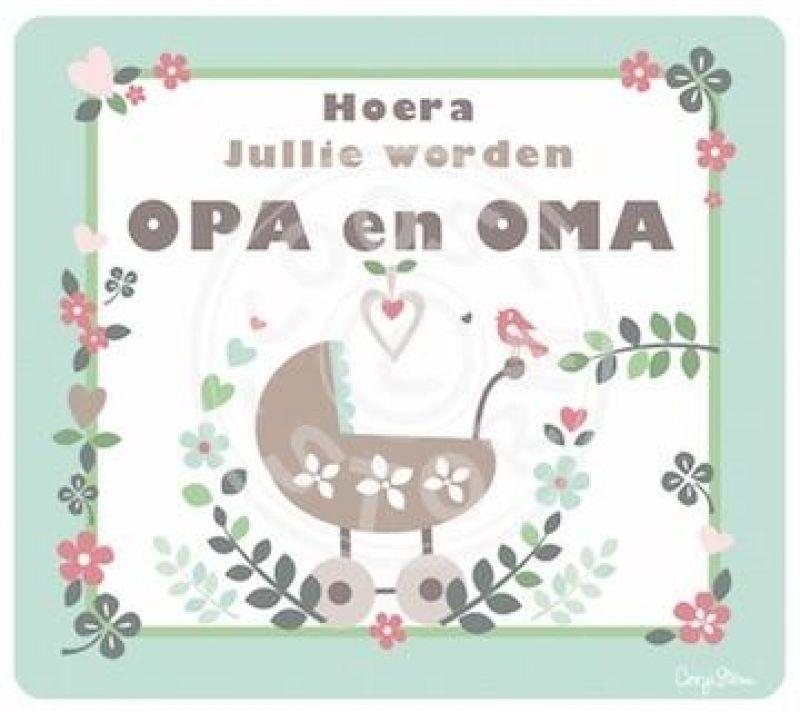 Fonkelnieuw Kaart 'hoera Jullie Worden Opa En Oma' online kopen bij Hip Stoer Lief NF-07