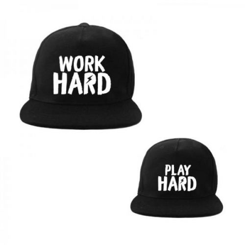 Cap Twinning Play Hard/work Hard