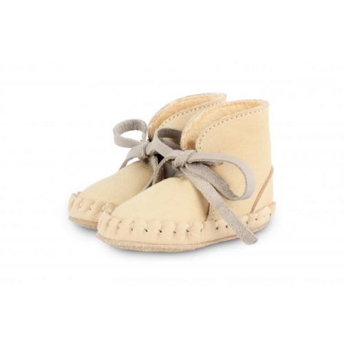Pina | Nubuck Cream & Light Grey
