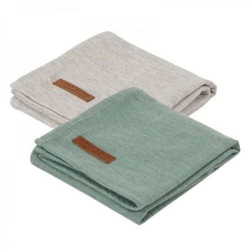 Swaddle Doek 70 X 70 - Pure Mint /grey (set Van 2 Designs)