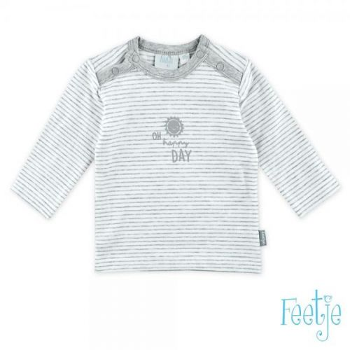 T-shirt L/m Streep Wolk Happy Day