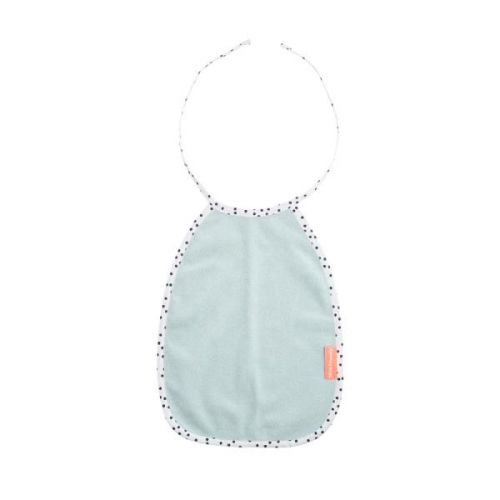 Terry Bib, Happy Dots, Blue